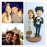 Model D57 Fully Personalized Bobble Head Clay Figurines Based on Customers' Photos