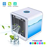 MOSCHE Personal Air Conditioner, Air Personal Space Cooler with Humidifier and Air Purifier USB Mini Portable Air Conditioner