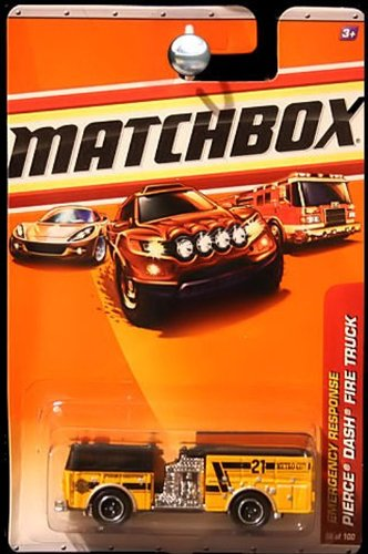 2009-2010 Matchbox Yellow-Orange Pierce Dash Fire Truck for sale  Delivered anywhere in USA