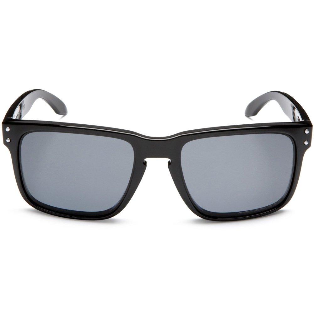 (オークリー) OAKLEY ホルブルック/スノーボード/サーフィン/スケート [メンズ] B003DQPBZC US Free-(FREE サイズ)|Polished Black w/Grey Polarized Polished Black w/Grey Polarized US Free-(FREE サイズ)