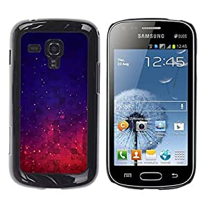 Be Good Phone Accessory // Dura Cáscara cubierta Protectora Caso Carcasa Funda de Protección para Samsung Galaxy S Duos S7562 // Stars Space Purple Blue Night Sky Vibrant