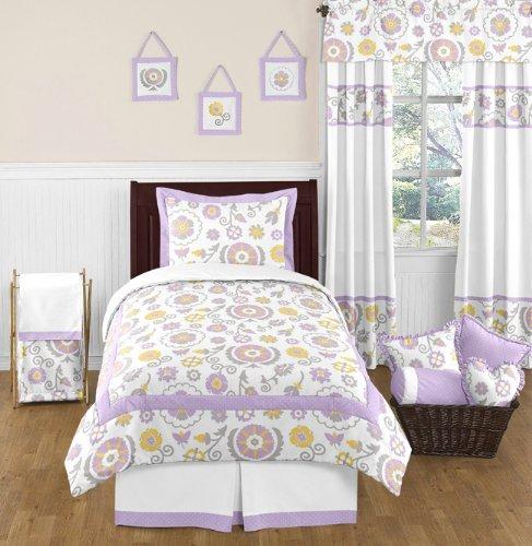 Sweet Jojo Designs 4-Piece Suzanna Childrens and Kids Bedding Twin Girls Set [並行輸入品] B07F29PJSM
