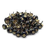 Sydien Copper Cat Eye Upholstery Nails Round Domed Head Upholstery Tack Pushpin Deco Tack 100 Pcs (19mm x 23mm)