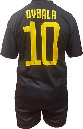 Conjunto Equipacion Tercera Camiseta Pantalones Futbol Juventus Paulo Dybala 10 Replica Oficial Autorizado 2018-2019