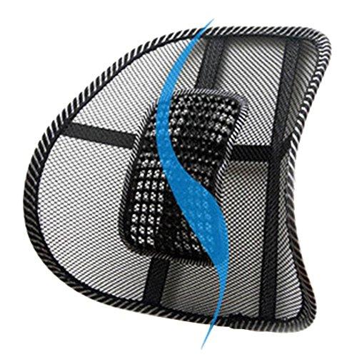 WinnerEco Black Mesh Lumbar Back Brace Support Office Home Car Seat Chair Cushion