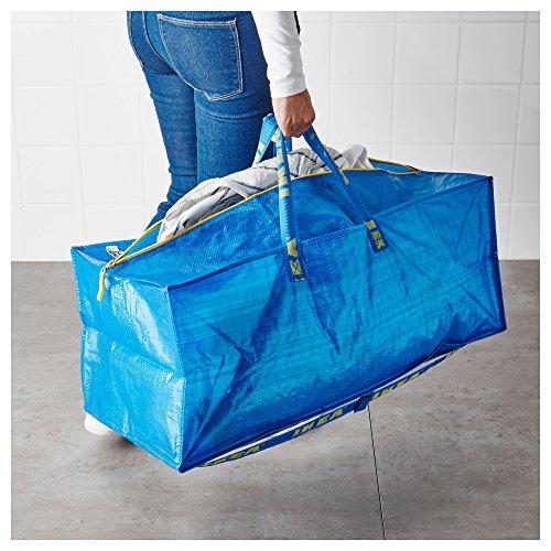 Ikea frakta storage bag extra large blue 2 pack for Ikea luggage cart
