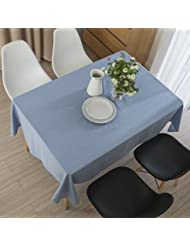 Lewing Cotton Rectangle Tablecloth for Dinning Table Grey 54 Inch x 72 Inch