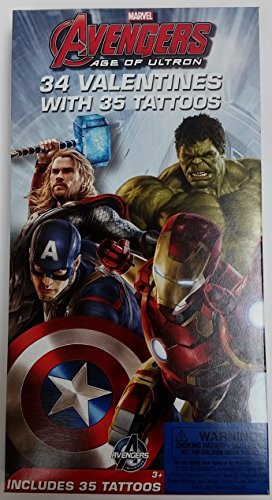 [Marvel Avengers Age Of Ultron Super Hero 34 Valentines With 35 Tattoos] (Avengers Superhero)