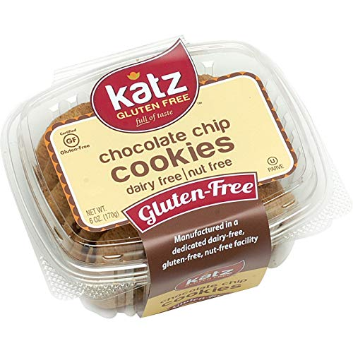 Katz Gluten Free Cookies Chocolate Chip 6 Ounce