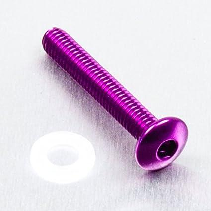 0.7mm x 25mm Rot Aluminium Linsenkopfschraube M4 x