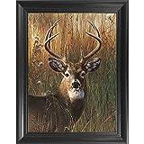 deer antler art Deer Antler Portrait 3D Poster Wall Art Decor Framed Print | 14.5x18.5 | Lenticular Posters & Pictures | Memorabilia Gifts for Guys & Girls Bedroom | Forest Wildlife & Hunting Animal Picture for Home