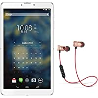 IKALL N1 Dual Sim 3G Calling Tablet with 7 inch Display (White, 512MB, 4GB) with Bluetooth Stereo Magnetic Headset