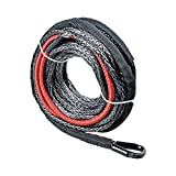 """50ft x 1/4"""" Synthetic Winch Rope Winch Line Cable w/ 40"""" Protective Sleeve for ATV UTV SUV Truck Boat Ramsey"""