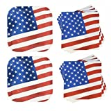 Fourth of July Party Pack Serves 28 Guests Paper Plates, and Napkins, Stars and Stripes Patriotic Party In-63