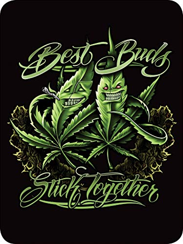 Regal Comfort Best Buds Stick Together Pot Leaf Throw Blanket 45