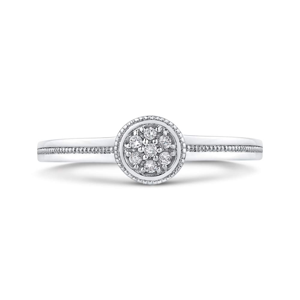 KATARINA Prong Set Diamond Cluster Anniversary Ring in Sterling Silver (1/20 cttw, G-H, I2-I3) 18017019