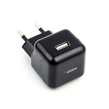 AmazonBasics - Cargador de pared con entrada USB (2,1 A ...