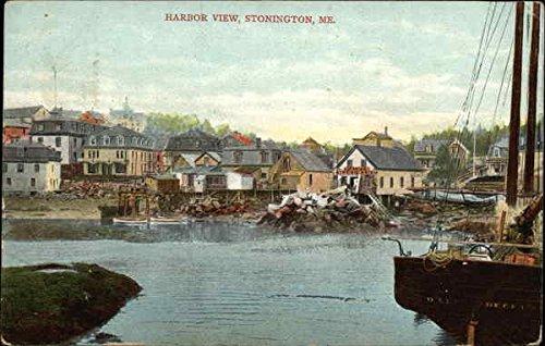 (Harbor View Stonington, Maine Original Vintage Postcard )
