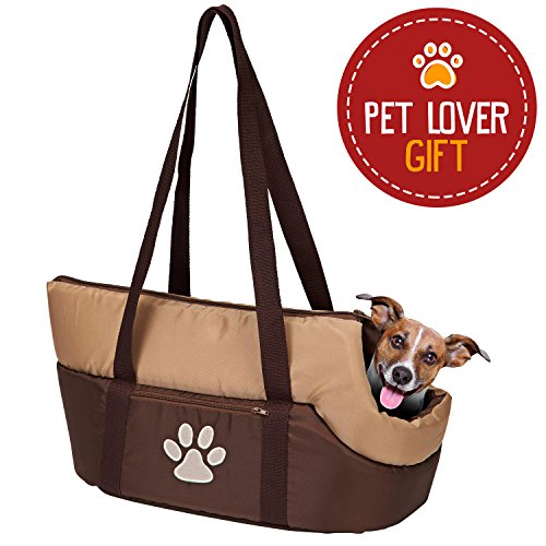 Purse Dog Carrier - Animals Favorite Pet Carrier Bag, Airline Approved Under Seat Soft-Sided Travel Pet Carrier with Plush Bed for Dog and Cat