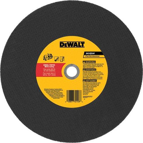 DEWALT DW8021R3 14 x 1//8 x 20mm Aluminum Oxide A24R High Speed Metal Cutting Wheel 3F