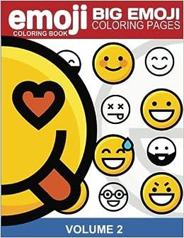 Amazon Com Emoji Coloring Book Big Emoji Coloring Pages Vol