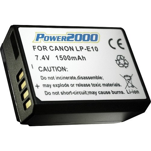 2-Pack-Battery-And-Charger-Kit-For-Canon-EOS-Rebel-T6-Canon-EOS-Rebel-T5-Canon-EOS-Rebel-T3-Digital-SLR-Camera-Includes-2-Extended-1500mAh-Replacement-LP-E10-Batteries-AcDc-Rapid-Charger-More
