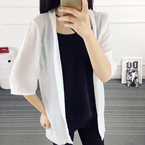 Blend Manteau Chemisier En Kimono Cardigan Gilet P Casual Femmes Koly Kimono Ample Coton Tops solide Femme Femme wBrqw1fv