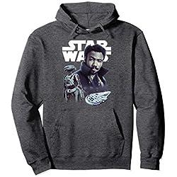 Unisex Star Wars Han Solo Movie Lando Story Logo Graphic Hoodie Large Dark Heather