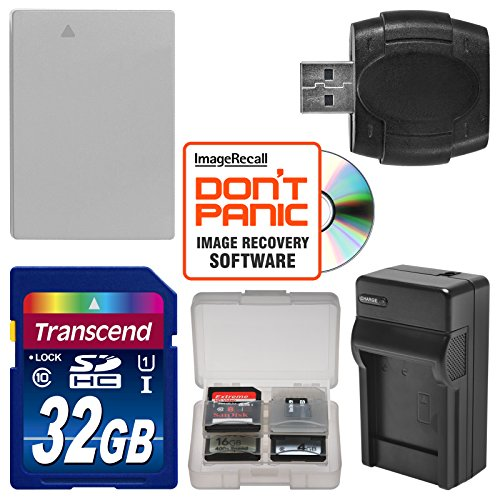 NB-10L Battery & Charger + 32GB SD Card Essential Bundle for Canon PowerShot G15, G16, G1 X, SX60 HS Digital Camera (Cannon G15 Camera)