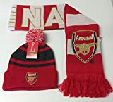 Arsenal Scarf Reversible and Beanie Hat Soccer Football Official Merchandise (One Size, 4)