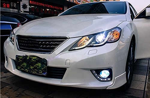 GOWE Car Styling for Toyota Reiz led headlights 2010-2013 new Mark X LED Head Lamp signal drl H7 hid Bi-Xenon Lens low beam Color Temperature:8000K;Wattage:35K 4