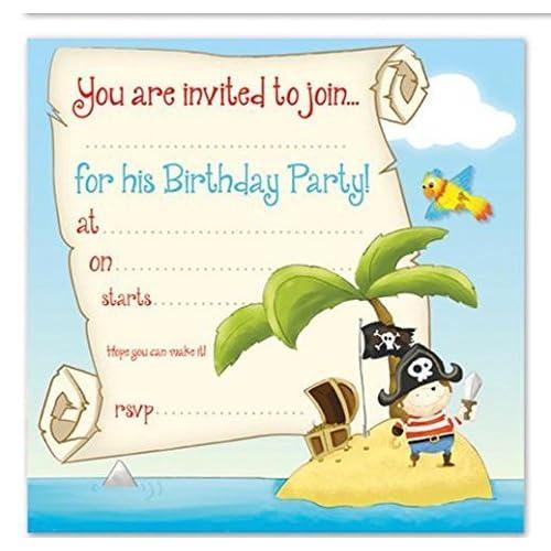 pirate party invitations amazon co uk