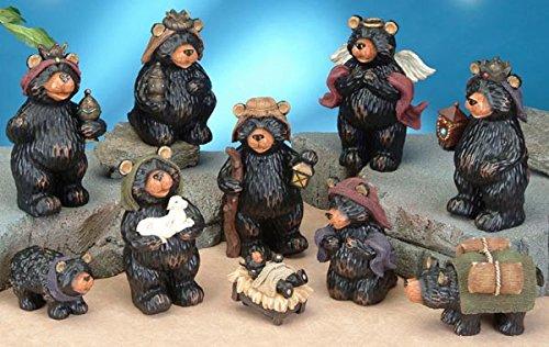 StealStreet SS-UG-PY-3000 Black Bear Religious Nativity Scene Figurine Statue Decor -