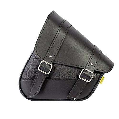 Dowco Willie & Max 59776-00 Triangulated Synthetic Leather Motorcycle Swingarm Bag: Black, 9 Liter ()