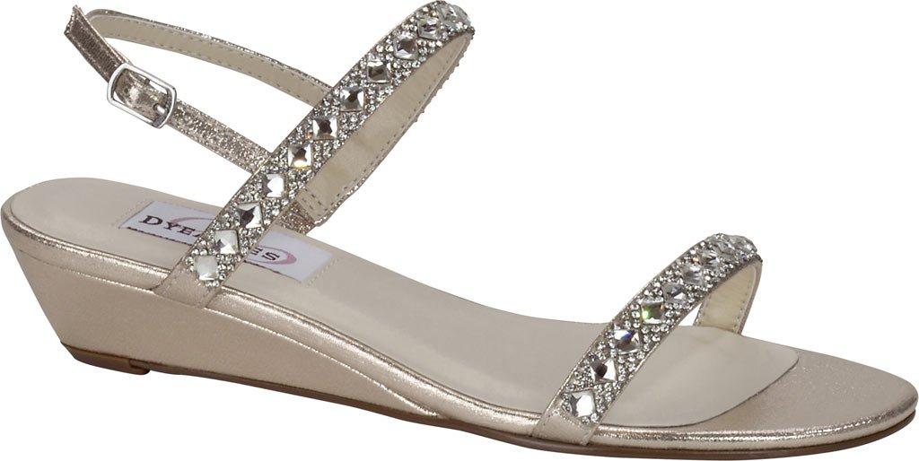 Dyeables, Inc Womens Women's Jasmine Wedge Sandal B005BKUTVE 12 C/D US|Champange Shimmer