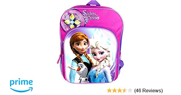 c4f9ba6eaaf Amazon.com  Fast Forward Disney Frozen Anna   Elsa Sisters Forever Backpack   Sports   Outdoors