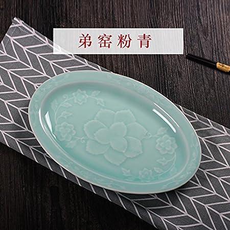 YUWANW Longquan Celadón Platos Vajilla De Porcelana Platos ...