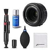 YONGNUO YN40mm F2.8N Light-weight Standard Prime AF/MF Lens with Cleaning Kit Set for Nikon DSLR Cameras LF807