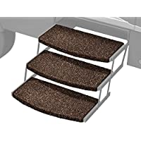 Prest-O-Fit 2-4047 Espresso 22 Wide Wraparound Radius RV Step Rug, 3 Pack, 3