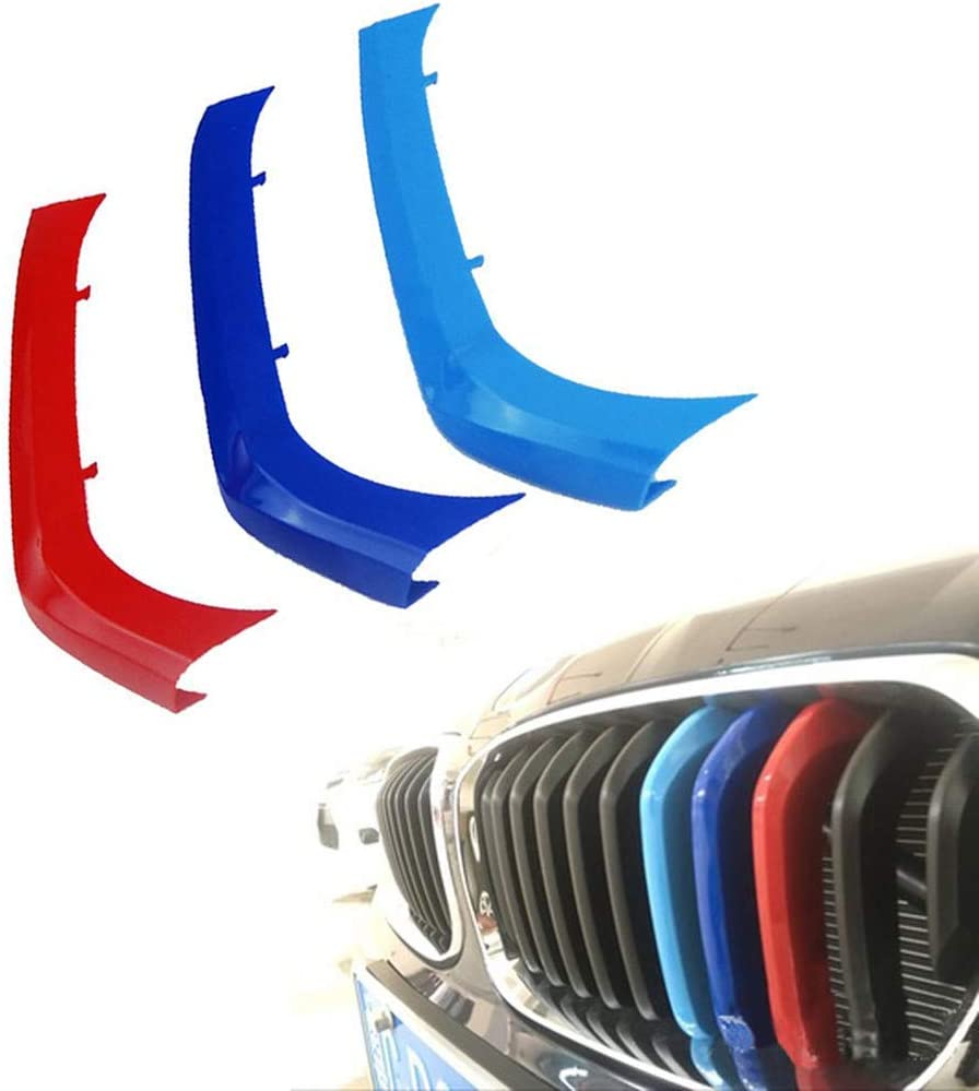 Clip In Grill inserts Grille Cover Stripes compatible with cars F20 F21 Series 1 2015-2017 11 Bars M Power Sport Tech Performance Styling Tuning