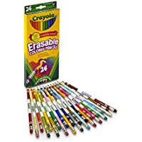 Crayola Erasable Colored Pencils, 24 Count