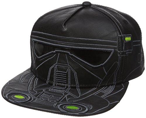 Bioworld Men's Star Wars Rogue Death Trooper PU Snapback Cap, Black, One - Wars Hat Star Leather