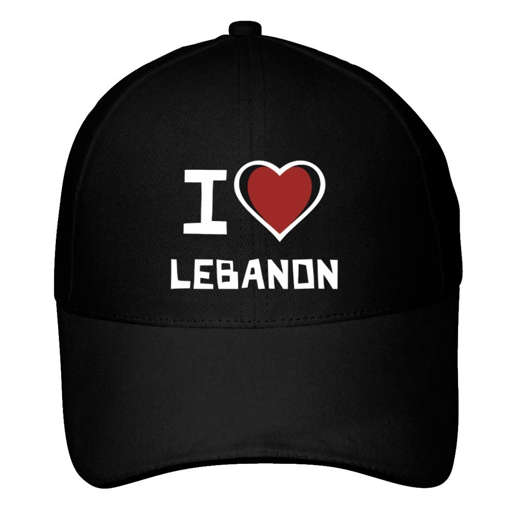 922efbb8a8f Idakoos I Love Lebanon Bicolor Heart - Pays - Baseball Cap IM390191427IDK