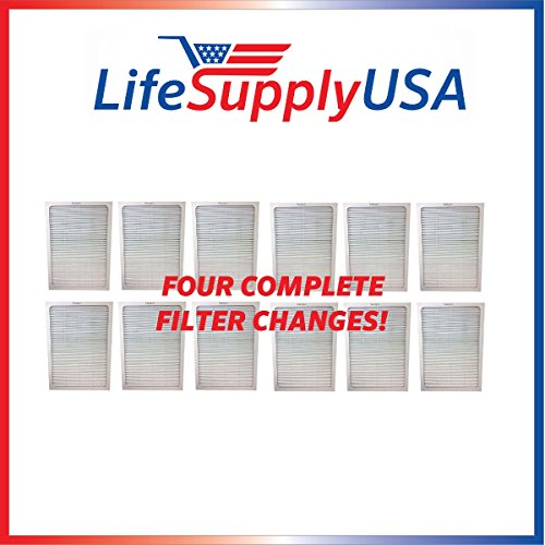 12 Filters - 4 Complete Sets - Air Purifier Set of Filters to fit ALL Blueair 500 and 600 Series ; By Vacuum Savings