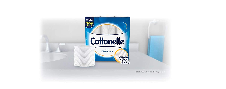 Strong Bath Tissue Cottonelle Ultra CleanCare Toilet Paper 36 Double Rolls