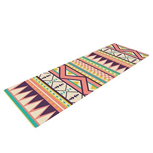 Kess InHouse Louise Machado Ethnic Love Exercise Yoga Mat, Tribal Geometric, 72″ by 24″