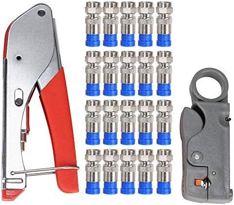 Crimper Coaxial Compression Stripper Connectors product image