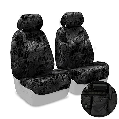 Coverking Front 50/50 Base Bucket Custom Fit Tactical Seat Cover for Select Ram 1500 Models - Cordura Ballistic (Kryptek Typhon...