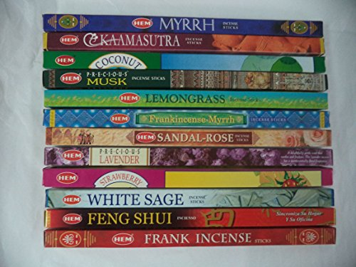 - HEM Incense Best Sellers #2 Set: 12 Boxes X 8 Sticks, Total 96 Sticks
