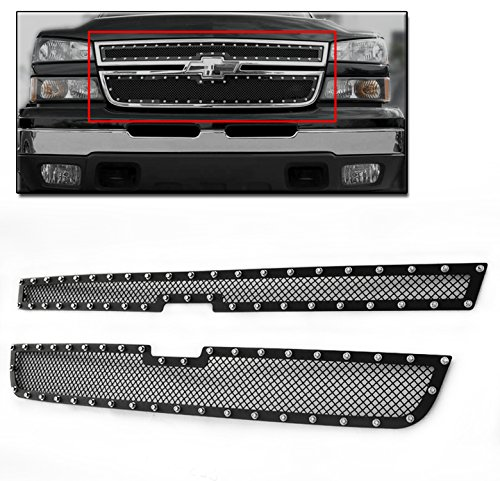 ZMAUTOPARTS Chevy Silerado 15/+ 25 Hd/35 Upper Rivet Stainless Steel Mesh Grille